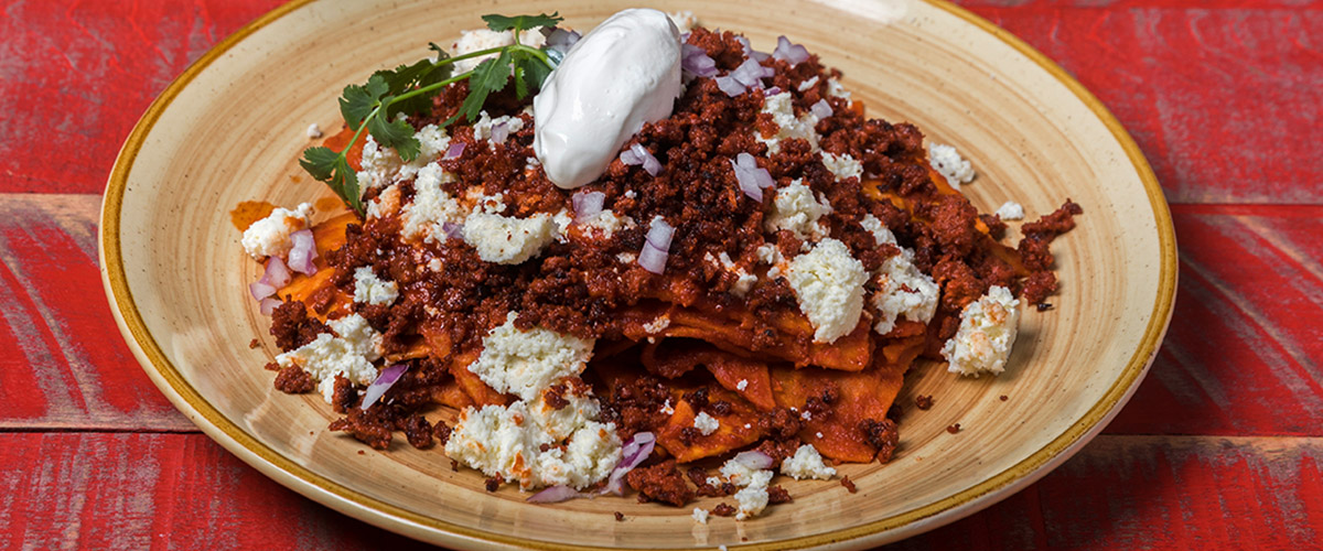Chilaquiles with Chorizo