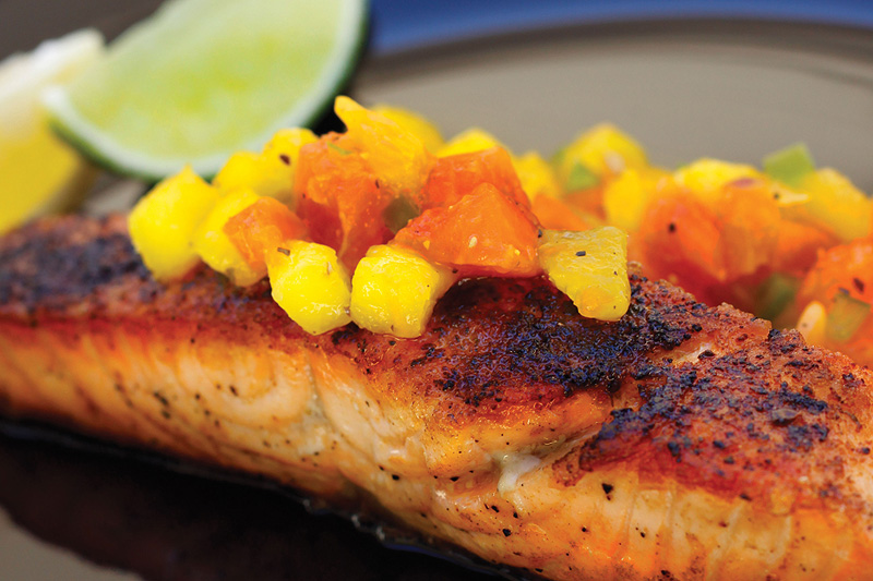 Mango Grilled Salmon
